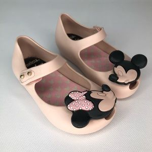 Mini Melissa Minnie & Mickey Mary Jane Shoes